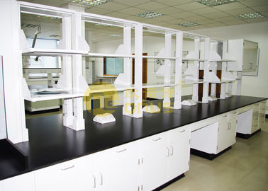 Slab Black epoxy resin laboratorium countertops ketahanan korosi untuk universitas