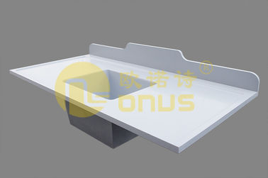 Laboratorium Kerja Permukaan epoxy undermount sink White Durability