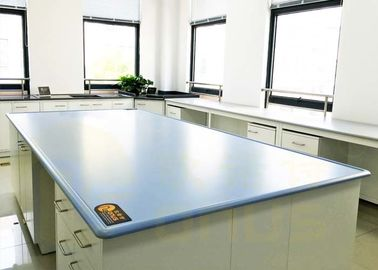 Biru / Warna Disesuaikan Tahan Kimia Table Tops Island Bench Type