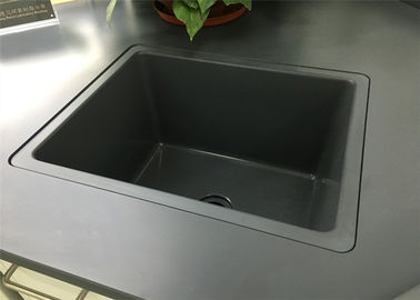 Laboratorium Bench Drop In Sink 15mm Tebal Instalasi Mudah Dengan Lem