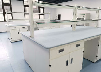 Meja Laboratorium Epoxy Resin Monolitik Ketebalan 25mm Tebal Warna Abu-abu