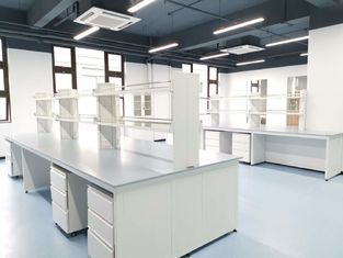 Epoxy Resin Lab Furniture ountertops untuk Center Bench / Warna Biru
