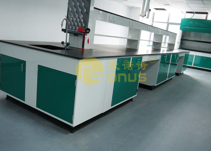 Molded marine edge laboratory countertops for chemical engineering science