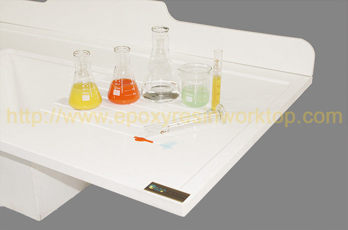 Reagent Resistance Epoxy Resin Laboratory Bench Top Customized Color