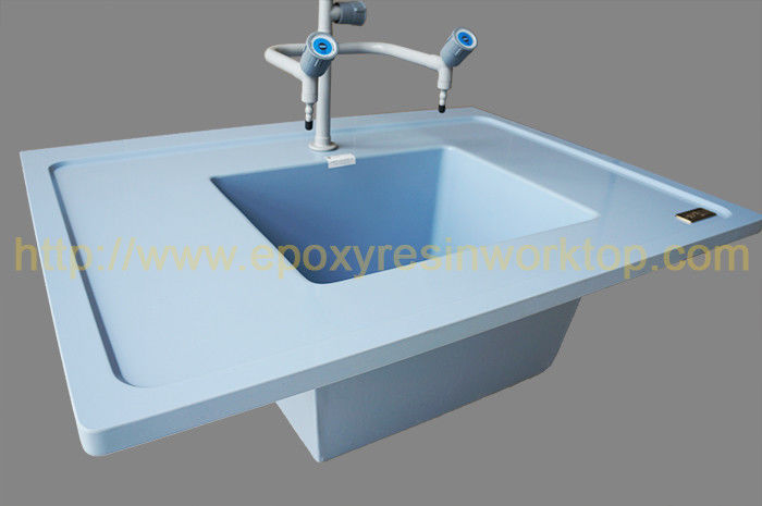 Monolithic Laboratory Bench Top Good Temperature Resistance Blue Color