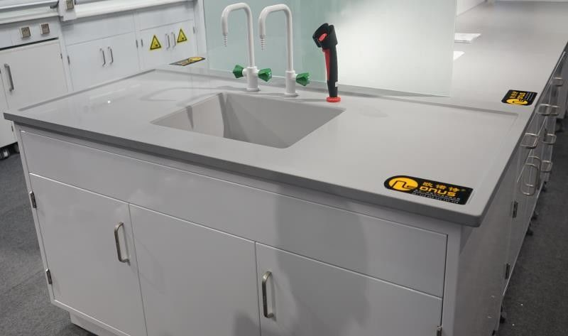 Laboratory Furniture Epoxy Resin Undermount Sinks With Resist Chemicals