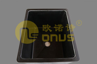 Cina Black Epoxy Resin Drop In Sinks / Heat And Chemical Resistant Sink pabrik